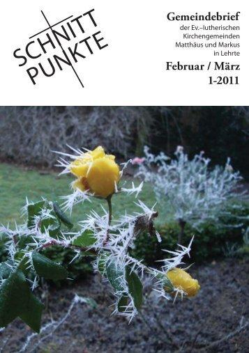 Sonntag, 27. Februar 2011 Zeit: 18.00 Uhr Ort - Matthäus Lehrte