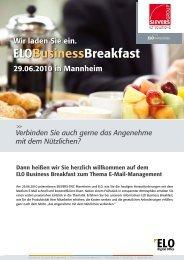 ELO Business Breakfast deutsch - SIEVERS-GROUP