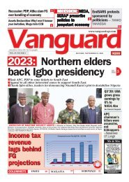 23112020 - 2023: Northern elders back Igbo presidency