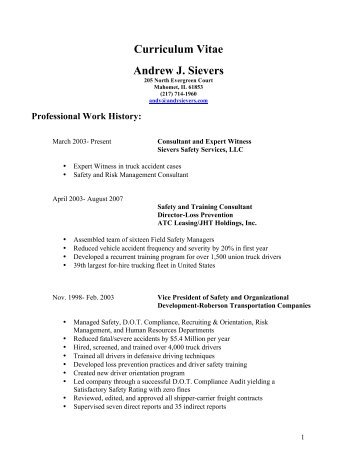 1 comprehensive professional vita andrew j