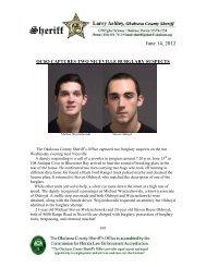 June 14, 2012 - Okaloosa County Sheriff's Office