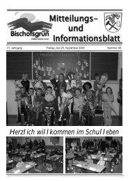 Ab Dienstag, 10. November 2009 - Gemeinde Bischofsgrün