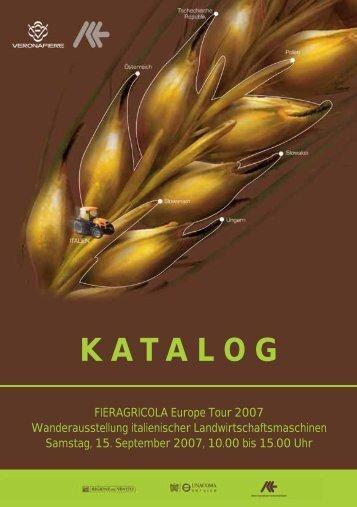Katalog Fieragricola Europe Tour - ICE Italienisches Institut für ...