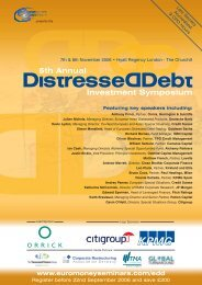5th Annual Investment Symposium - Orrick