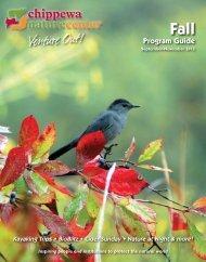Fall Program Guide - Chippewa Nature Center
