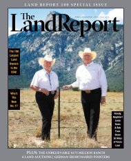 LAND REPORT 100 SPECIAL ISSUE - Fay Ranches