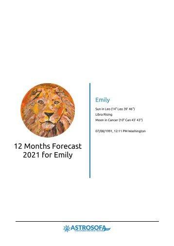 Example Horoscope: 12 month forecast Leo