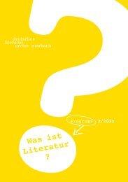 Programmheft des Deutschen Literaturarchivs Marbach, 2. Halbjahr 2020