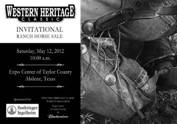 RHS Catalog - Western Heritage Classic Ranch Horse Sale