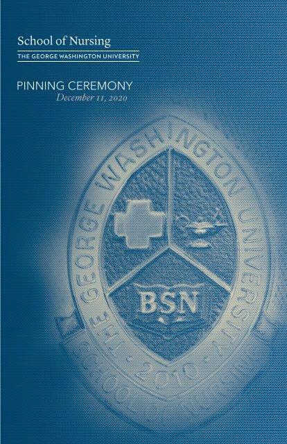 GW Nursing Fall 2020 Pinning Ceremony Program