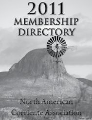 NACA 2011 Membership Directory combined with Rules and