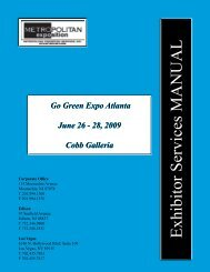 Exhibitor Services MANUAL - Go Green Expo