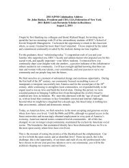 1 2011 SJNM Culmination Address Dr. John Ruskay, President and ...