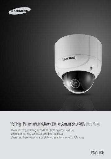 SND-460V User Manual - Samsung CCTV