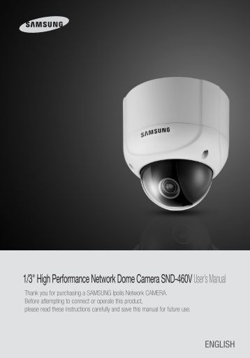 SND-460V User Manual - Samsung CCTV