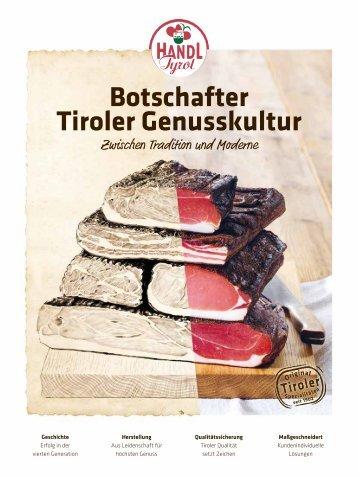 HANDL TYROL Botschafter Tiroler Genusskultur
