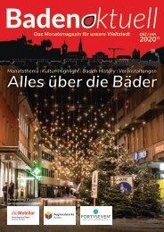 Baden aktuell Magazin Dezember 2020 + Januar 2021, Doppelausgabe