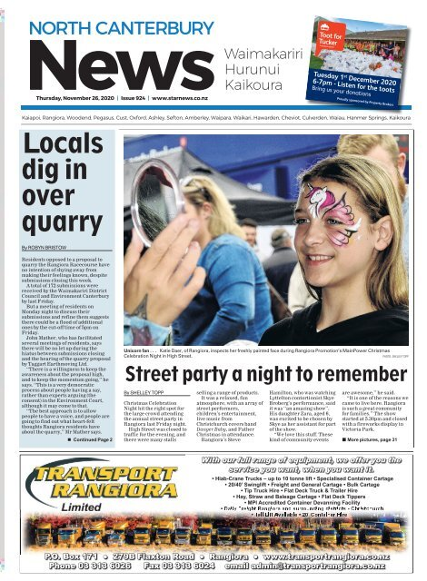 North Canterbury News: November 26, 2020