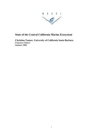 State of the Central California Marine Ecosystem - Monterey Bay ...
