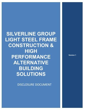 SILVERLINE GROUP Light steel frame construction & High ...