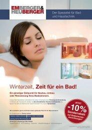 Winterzeit, Zeit für ein Bad! - Emberger & Heuberger