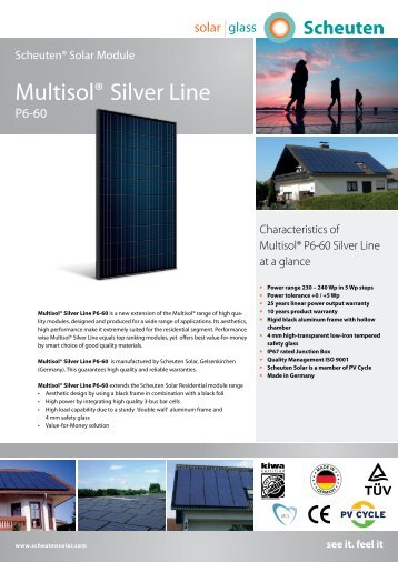 Multisol® Silver Line - 4 New Energy Solar systems