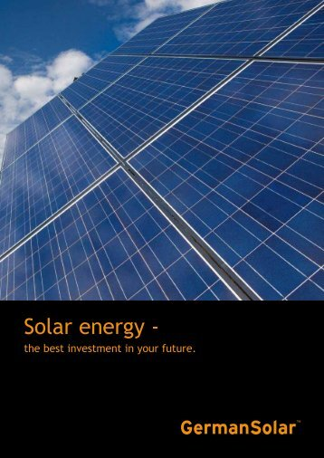 Solar energy - - GermanSolar