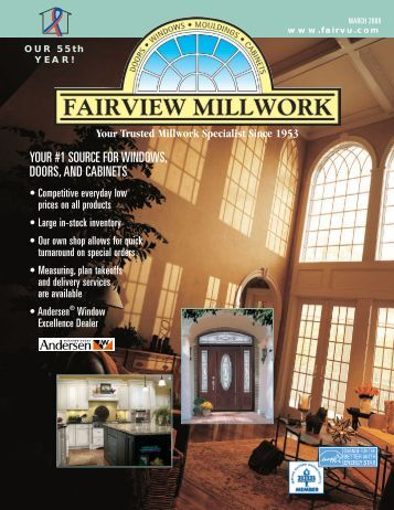your #1 source for windows, doors, and cabinets - Fairview Millwork ...