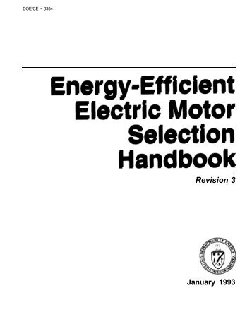 Energy-Efficient Electric Motor Selection Handbook - WebBooks