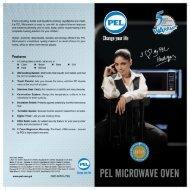 PEL Microwave Ovens Brochure