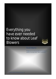 Everything you have ever needed to know about Leaf Blowers