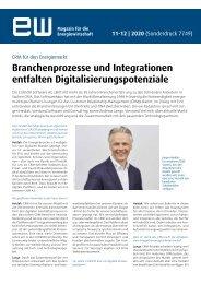 Branchenprozesse und Integrationen entfalten Digitalisierungspotenziale ew 11/12 2020