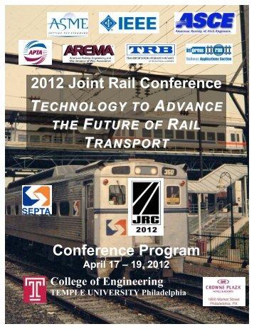 JRC 2012 - Final Program - Events