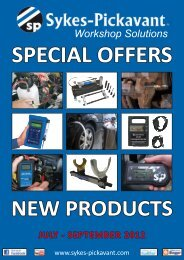 Workshop Solutions SPECIAL OFFERS JULY - Sykes-Pickavant