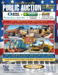 day 1: friday, june 25, 2010 at 9:00 am - First Capitol Auction, Inc.