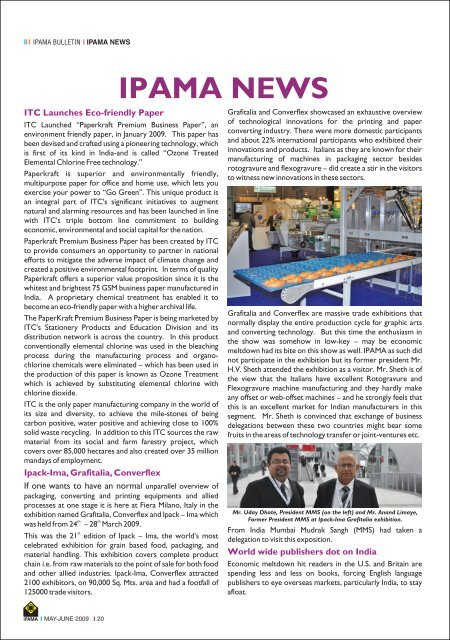 IPAMA BULLETIN (May - June) - Indian Printing, Packaging and ...