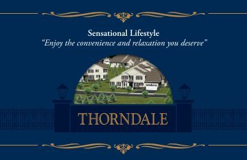 "Sensational Lifestyle ""Enjoy the convenience and ... - WB Homes, Inc."