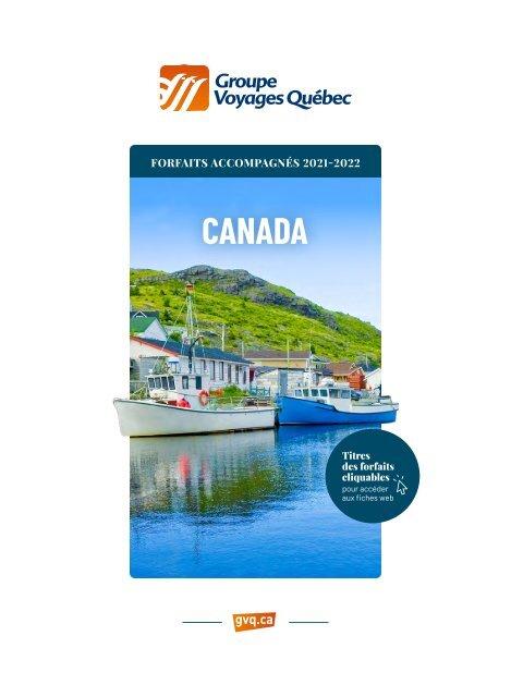 Canada - Forfaits accompagnés 2021-2022