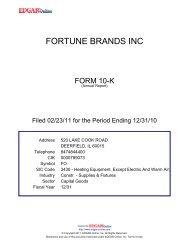FORTUNE BRANDS INC - Zonebourse.com