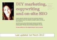 DIY marketing, copywriting and on-site SEO - Freelance copywriter
