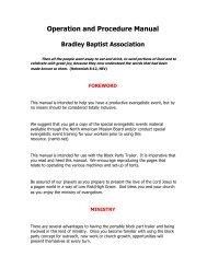 Operation and Procedure Manual - Bradley Baptist Association