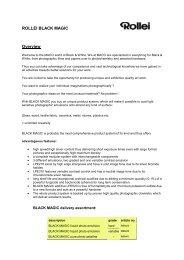 ROLLEI BLACK MAGIC Overview - HANS O. MAHN & CO. KG