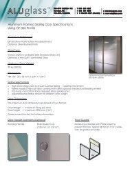 GF 36S Aluminum Framed Sliding Door Specs 1 - Aluglass