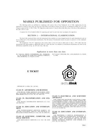 03 September 2002 - U.S. Patent and Trademark Office