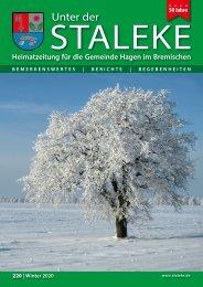Unter der Staleke 220, Winter 2020