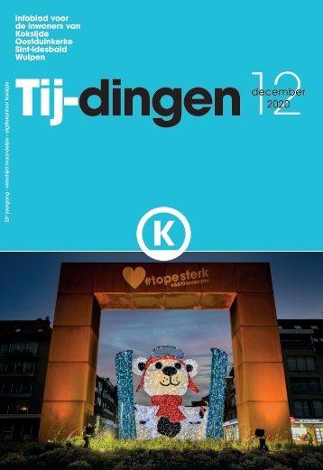 Infoblad Tij-dingen, editie december 2020
