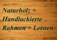 Leisten+Rahmen 2020 Naturholz 48/2020