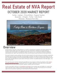 2020-10 -- Real Estate of Northern Virginia Market Report - October 2020 Real Estate Trends - Michele Hudnall