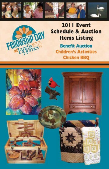 2011 Event Schedule & Auction Items Listing - Landis Homes