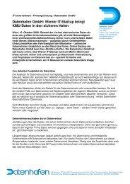 Wiener It-Startup bringt Kmu-Daten in den sicheren ... - Datenhafen